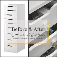 Before After Ikea Alex Drawer Unit Hack