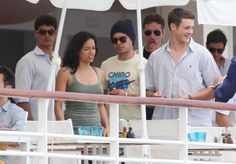 Zac Efron and Michelle Rodriguez post dancing video from their vacation in Italy.
