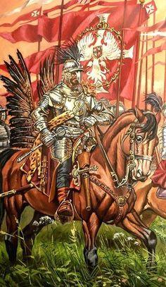 Rotmistrz husarii na początku XVII wieku. High Fantasy, Medieval Fantasy, Military Art, Military History, Poland History, Templer, Modern Warfare, Larp, Middle Ages