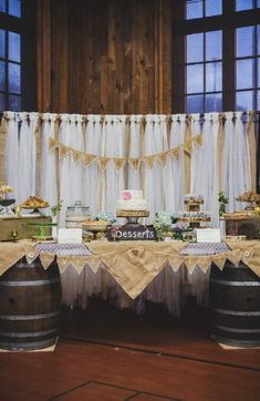 Wedding Dessert Table- this is the closest I have found to what I want