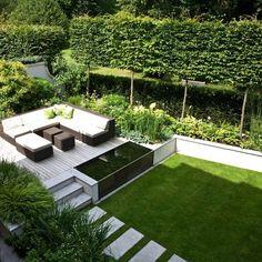 40 Wonderful And Modern Garden Architecture Design Ideas Contemporary Garden Design, Small Garden Design, Landscape Design, Garden Modern, Modern Planting, Modern Garden Furniture, Modern Gardens, Pond Design, Beach Design