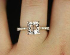 Katya 6mm 14kt Gold Round Morganite and Diamonds by RosadosBox