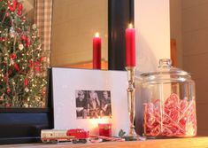 Christmas mantle vignette - Talk of the House