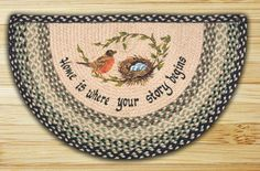 Earth Rugs Robins Nest Slice Area Rugs Are Great In Your Home For That Country Feeling !!!! ON SALE NOW!!!!