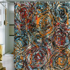 Brooke Lynn Art Circle Study 1 Shower Curtain