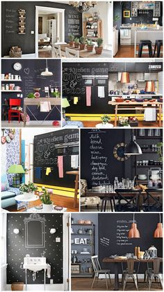 Chalkboard wall. Yes.