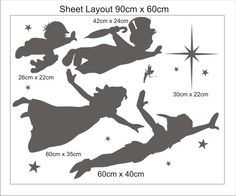 Peter Pan flying wall frieze vinyl wall decal. £19.99, via Etsy.