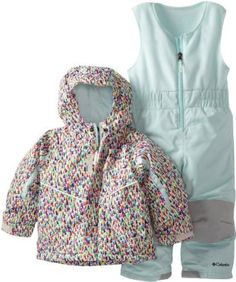 Columbia toddler snowsuit bib and jacket - size 2t