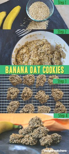 These cookies are oat-rageously easy. Bananas and oats are all you need for this sweet treat.