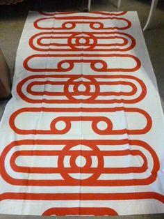 """Vintage Fabric from Tampella Finland Marjatta Seppälä design """"Siro"""" NICE! Retro Pattern, Pattern Design, Print Design, Textile Patterns, Textile Design, Century Textiles, Marimekko, Vintage Fabrics, Surface Design"""