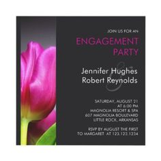 Charcoal Gray Engagement Invitation - #weddings
