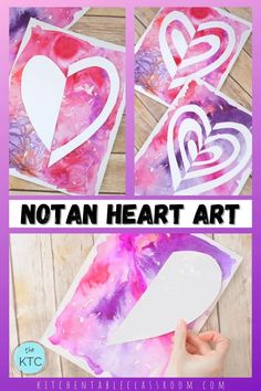 Valentines Crafts For Preschoolers, Valentines Art Lessons, Valentines Art For Kids, Easy Valentine Crafts, Valentines Day Activities, Easy Crafts For Kids, Elementary Art Rooms, Art Lessons Elementary, Winter Art Projects
