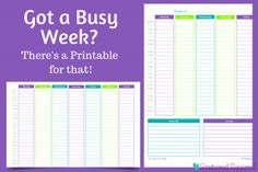 Printable Weekly Planner pages in two different layouts