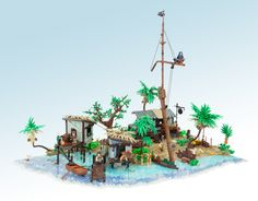 Jonas Kramm, who never disappoints with his excellent models, built a modest seaside village from the 2013 video game Assassin's Creed IV: Black Flag.  From the gradient of the crystal clear …