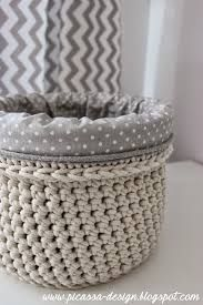 Image result for crochet basket with handles and lining