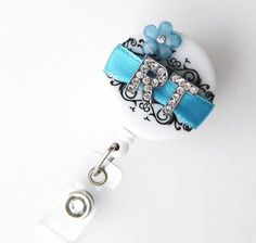Custom Blossom RT Bling - Designer Name Badge Reel - Unique ID Badge Holders - Stylish Badge Clip - Respiratory Therapist - BadgeBlooms