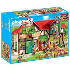 Playmobil – 6120 – Grande ferme: Grande ferme Référence de l'article : 6120Avec étables, atelier et un séjour pour la famille. Contient :…