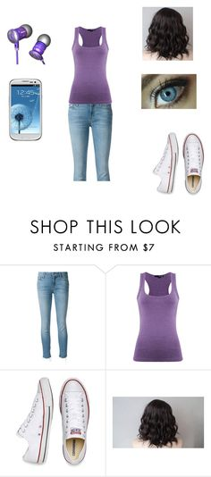 """""""Hannah Schmidt"""" by bella-schroeder ❤ liked on Polyvore featuring Mother, TALLY WEiJL, Converse, Beats by Dr. Dre and Samsung"""