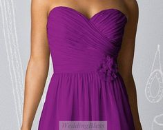 Purple Bridesmaid Dress Chiffon Sweetheart Dress by WeddingBless $88