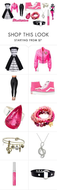 """""""Undertale"""" by getjinxed205 on Polyvore featuring Unravel, WithChic, Vans, Gemjunky, Good Charma, Sweet Romance, Carolina Glamour Collection and Sisley"""
