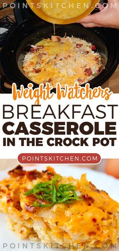 Recipes Breakfast Weight Watchers Casserole Recipes with SmartPoints - Easy WW Freestyle. Are you looking for great Weight Watchers Casserole Recipes with SmartPoints? I have a collection of easy WW Freestyle meals for you to cook for your family. Weight Watchers Casserole, Weight Watchers Breakfast, Weight Watchers Chicken, Weight Watchers Meals, Weight Watcher Crockpot Recipes, Weight Watchers Recipes With Smartpoints, Weight Watcher Smoothies, Crockpot Breakfast Casserole, Breakfast Crockpot Recipes