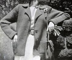 Crochet One coat pattern from Hand Knit Fashions, originally published by Bernhard Ulmann Co, Volume No. 341, in 1950.