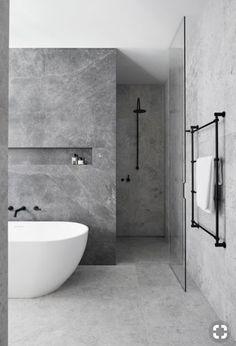 bathroom Ideas for a Minimalist Bathroom Design– Are you and your bathroom the right candidates for a sleek minimalist setting?Ideas for a Minimalist Bathroom Design– Are you and your bathroom the right candidates for a sleek minimalist setting? Hotel Bathroom Design, Modern Bathroom Design, Bathroom Renovations, Bathroom Inspo, Bathroom Ideas, Bathroom Grey, Bathroom Marble, Bath Design, Concrete Bathroom