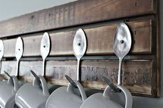 ♡♡♡♡♡ I love how they used old spoons for the hooks!!!!!