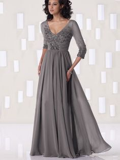 New Fabulous Sheat/Column V-neck Chiffon Mother of the Bride Dress