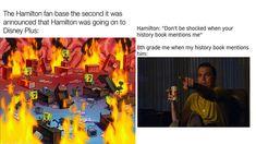 Hamilton Broadway, Hamilton Musical, Stupid Funny Memes, Funny Relatable Memes, Hilarious Jokes, Theatre Nerds, Musical Theatre, Theater, Hamilton Lin Manuel Miranda
