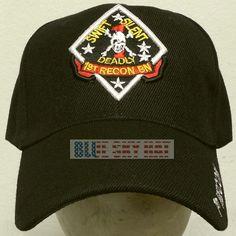 452481cf9cc U.s. marine corps usmc 1st recon bn reconnaissance battalion division cap  hat os
