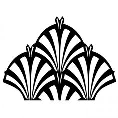 Art Deco Fountain Mesh Stencil
