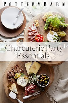 Essentials for a Charcuterie Party All you need is a wood slab, the right knifes and gorgeous glassware.All you need is a wood slab, the right knifes and gorgeous glassware. Finger Food Appetizers, Finger Foods, Appetizer Recipes, Charcuterie And Cheese Board, Charcuterie Platter, Food Platters, Cheese Platters, Slate Cheese Board, Cheese Boards