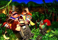 Donkey Kong 64, Donkey Kong Country, Super Nintendo, Nintendo Games, Vintage Wall Art, Vintage Walls, Poster Vintage, Mario Bros, Et Movie Poster