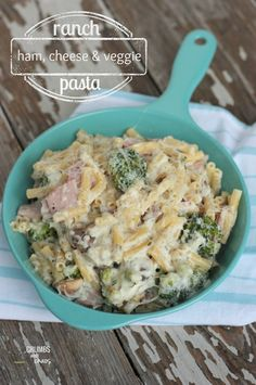 Ranch Ham, Cheese & Veggie Pasta | Crumbs and Chaos