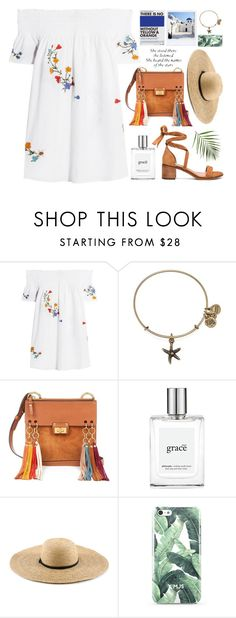 """""""Sunset, small town, I'm out of time."""" by astoriachung ❤ liked on Polyvore featuring Tory Burch, Alex and Ani, Chloé, philosophy, GAS Jeans, offtheshoulder, Packandgo, laceupsandals, summer2016 and greekislands"""
