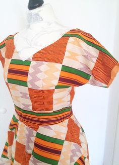 Bunt african kente sommer Kleid von Urban-Apparel auf DaWanda.com