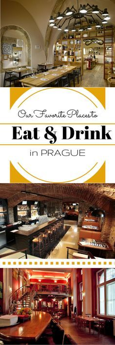 Our favorite places to eat and drink in Prague! YUM!