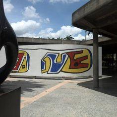 Hoy,  un día hermoso y solitario en mi Ciudad Universitaria #UCV