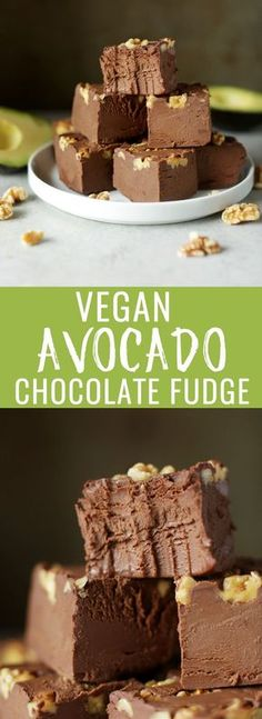 Decadent vegan avocado fudge! Perfectly rich, creamy and a healthier option for Valentines day or whenever those chocolate cravings come on strong! Nutritionalfoodie.com
