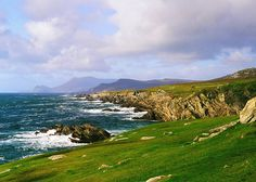 Achill Island Photography Blue Green And Purple by Celticcatphotos