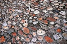Abstract Background Of Old Medieval Cobblestone Pavement Stock ...