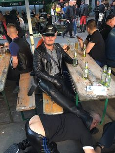 Just a Leather addicted Guy From Germany Folsom Berlin, Folsom Europe, Mens Leather Pants, Design Your Dream House, Gay Couple, Hairy Men, Men Dress, Hot Guys, Mens Fashion