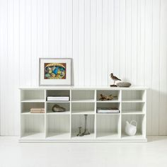 Love this white open sideboard