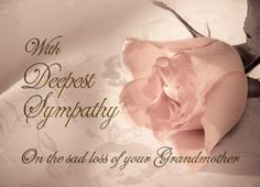 Grandmother condolence message