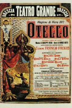 Otello, 1887, Teatro Grande Brescia #VerdiMuseum