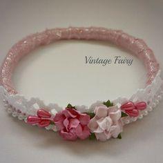 Image of Georgie flower crown by Vintage Fairy www.vintagefairy.com.au