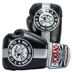 Boxing Gloves | Muay Thai Gloves | Official Fight Team Silver/Black