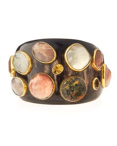 Mawe+Dark+Horn+Cuff+Bracelet+by+Ashley+Pittman+at+Bergdorf+Goodman.