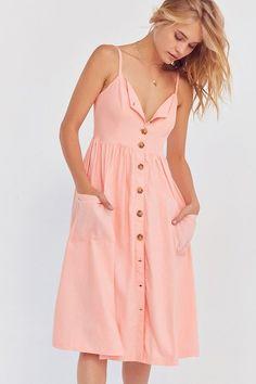 eec0336512 Cooperative Emilia Linen Button-Down Midi Dress Urban Dresses
